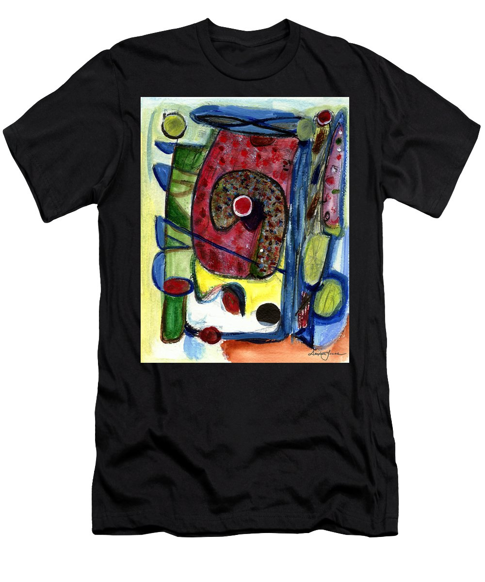 Abstract Art Men's T-Shirt (Athletic Fit) featuring the painting Valentine by Stephen Lucas