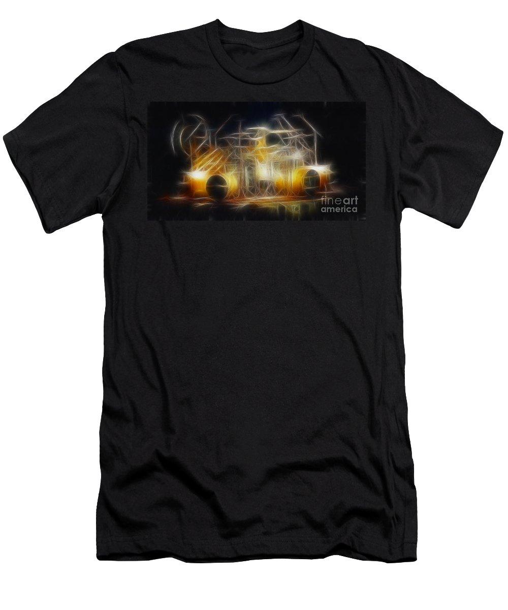Music Men's T-Shirt (Athletic Fit) featuring the photograph Van Halen-ou812-alex-f24a-fractal by Gary Gingrich Galleries