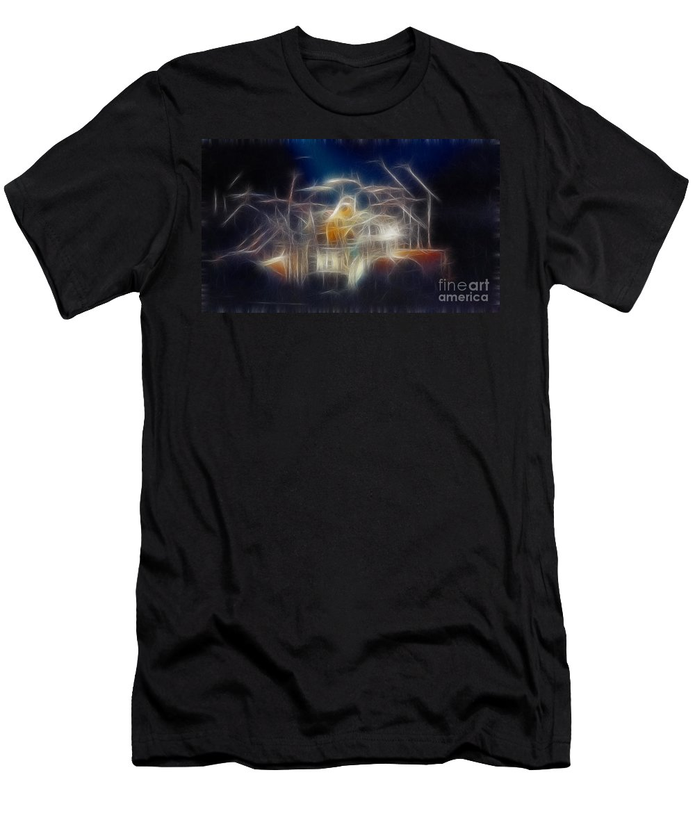 Music Men's T-Shirt (Athletic Fit) featuring the photograph Van Halen-ou812-d32a-fractal by Gary Gingrich Galleries