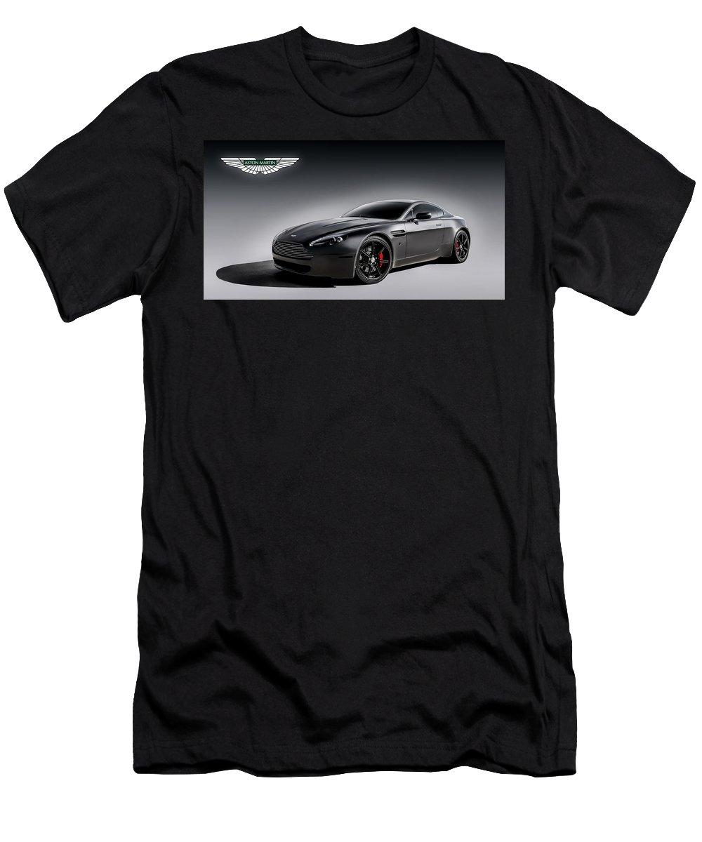British Men's T-Shirt (Athletic Fit) featuring the digital art Vantage V12 by Douglas Pittman
