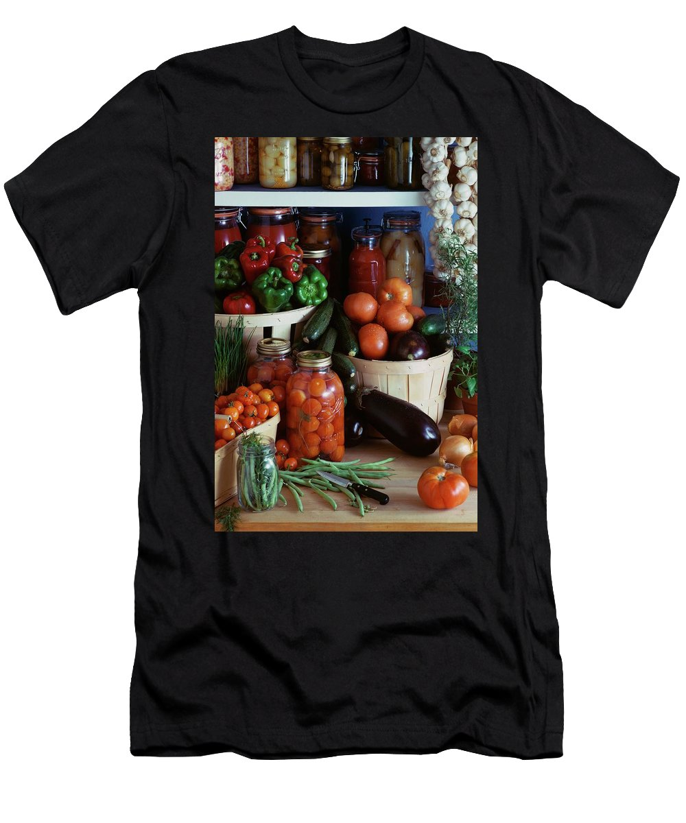 Still Life Men's T-Shirt (Athletic Fit) featuring the photograph Vegetables For Pickling by Emerick Bronson