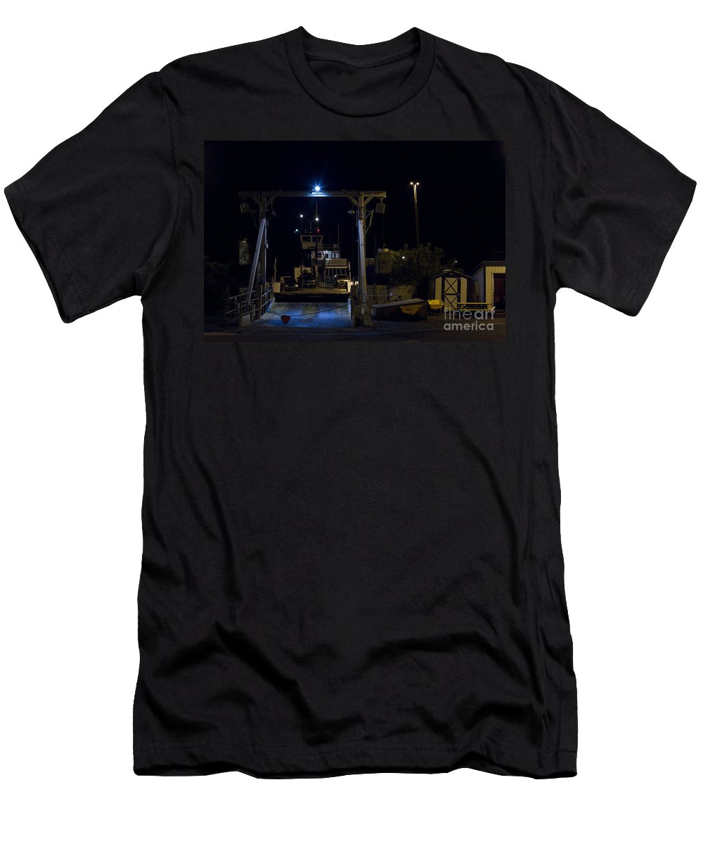 Men's T-Shirt (Athletic Fit) featuring the photograph Vermont Ferry 2 by Sara Schroeder