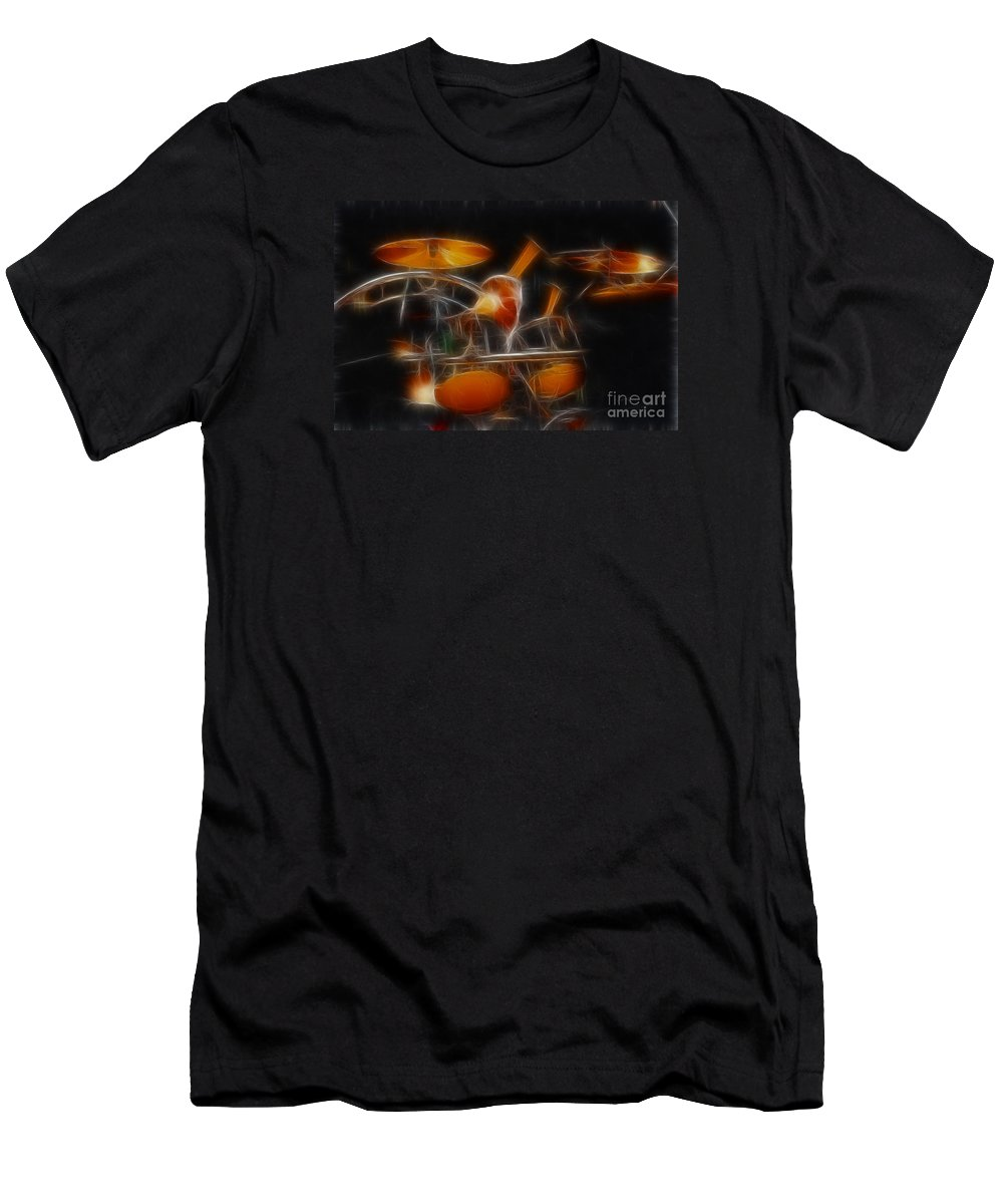 Music Men's T-Shirt (Athletic Fit) featuring the photograph Vh-alex-balance-gb32-fractal by Gary Gingrich Galleries