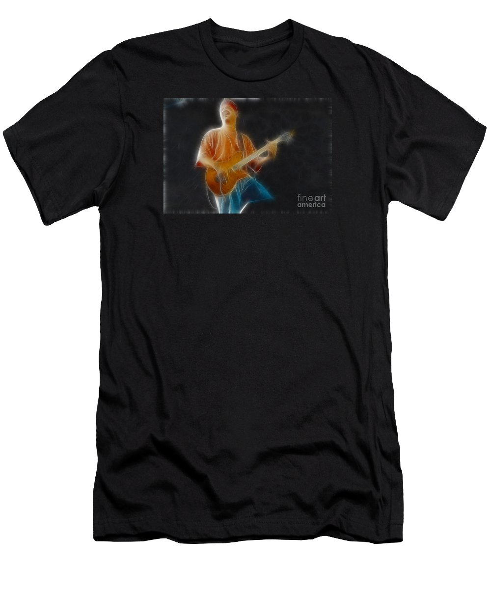 Music Men's T-Shirt (Athletic Fit) featuring the photograph Vh-eddie-balance-ga6-fractal by Gary Gingrich Galleries