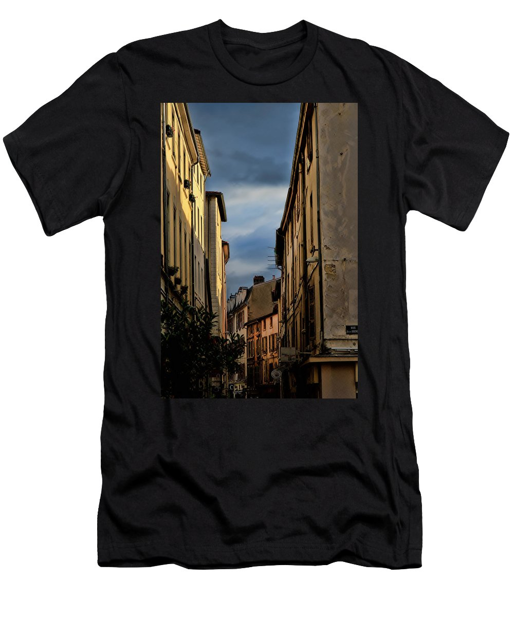 Europe Men's T-Shirt (Athletic Fit) featuring the photograph Vienne France by Tom Prendergast