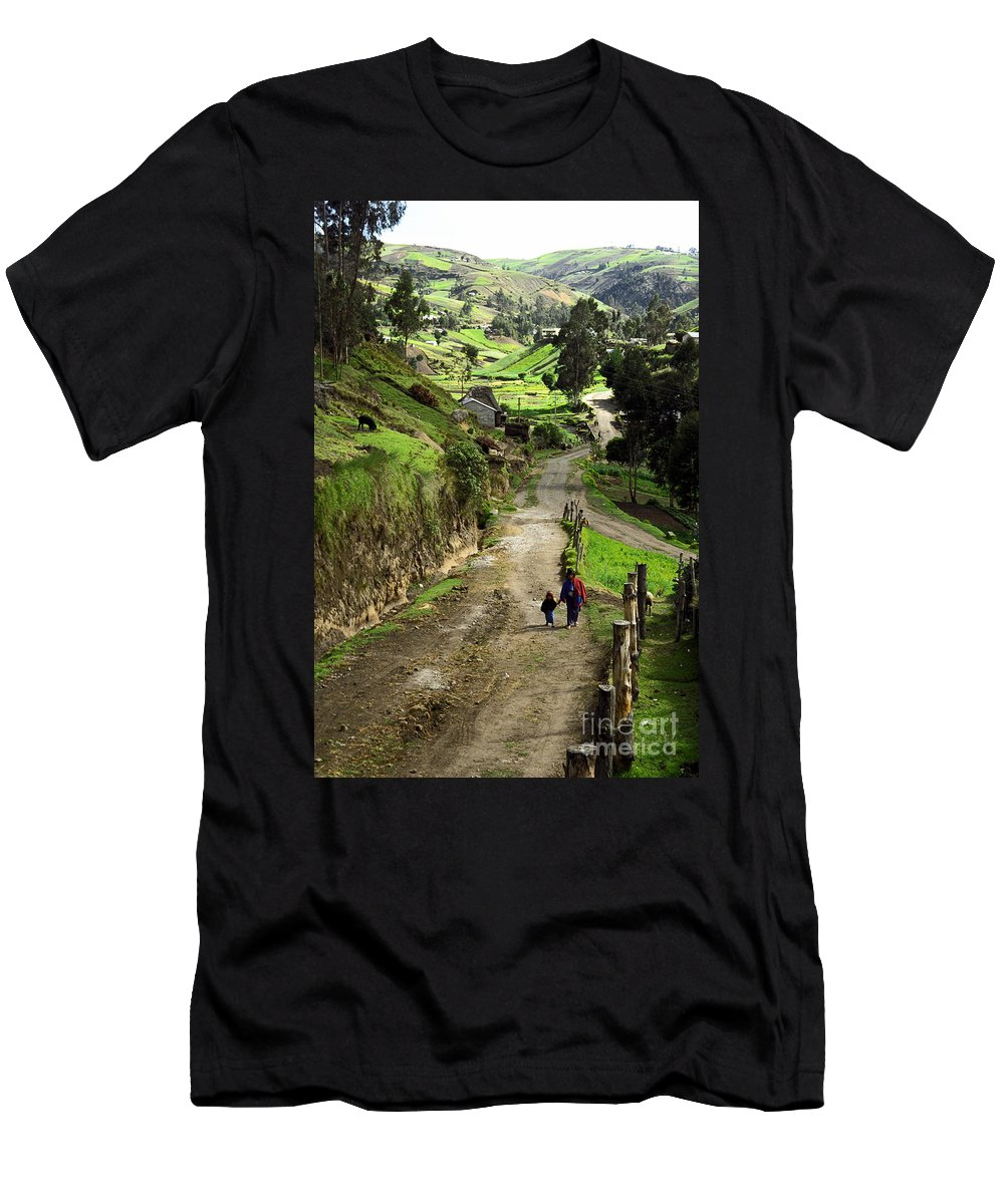 Ecuador Men's T-Shirt (Athletic Fit) featuring the photograph View Of Lupaxi by Kathy McClure