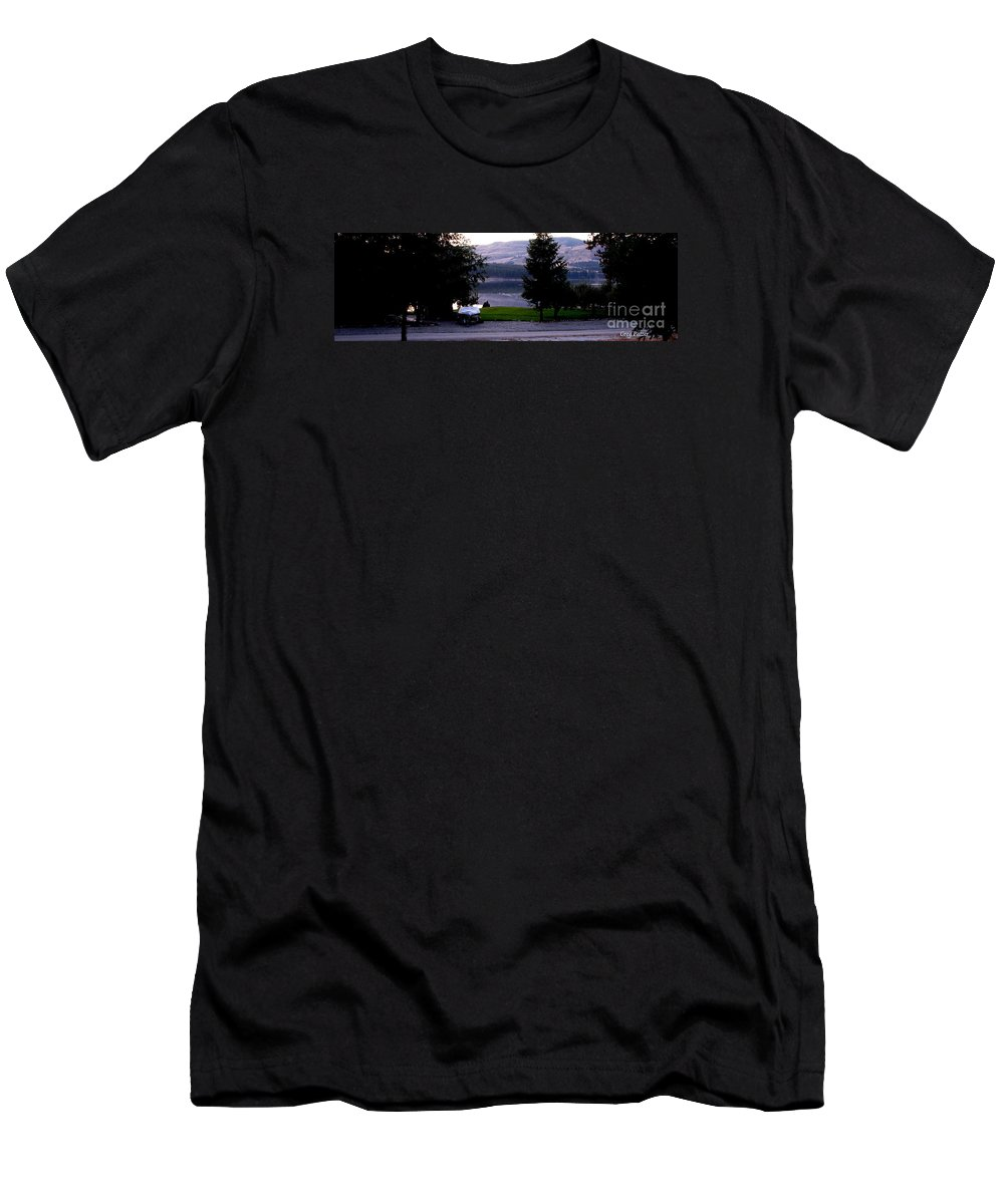 Art For The Wall...patzer Photography Men's T-Shirt (Athletic Fit) featuring the photograph View To Columbia by Greg Patzer