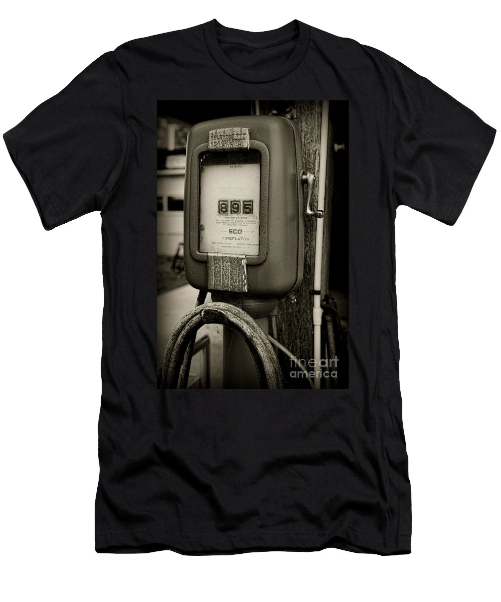 Paul Ward Men's T-Shirt (Athletic Fit) featuring the photograph Vintage Air Station In Black And White by Paul Ward