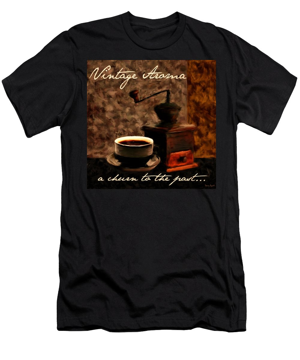 Coffee Men's T-Shirt (Athletic Fit) featuring the digital art Vintage Aroma by Lourry Legarde