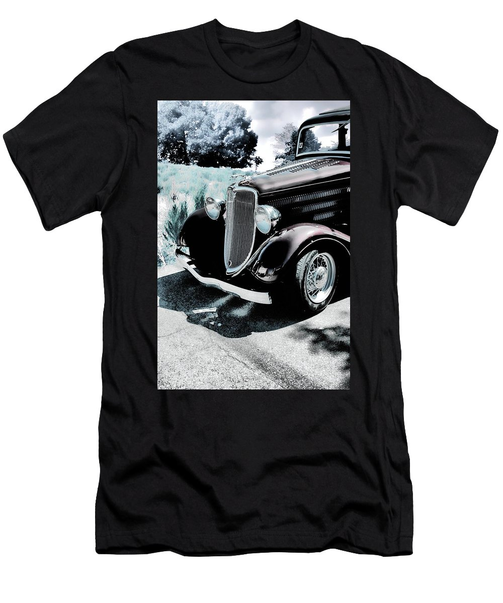 Ford Men's T-Shirt (Athletic Fit) featuring the photograph Vintage Ford Car Art 1 by Lesa Fine