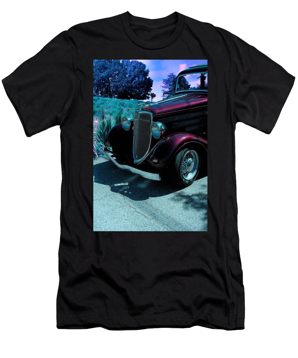 Ford Men's T-Shirt (Athletic Fit) featuring the photograph Vintage Ford Car Art II by Lesa Fine