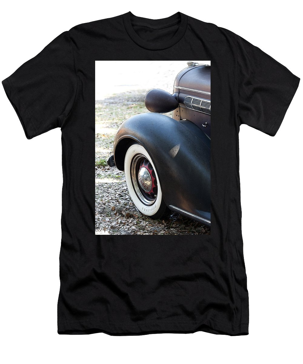 Vertical Men's T-Shirt (Athletic Fit) featuring the photograph Vintage Chrysler Automobile Poster Look II Usa by Sally Rockefeller
