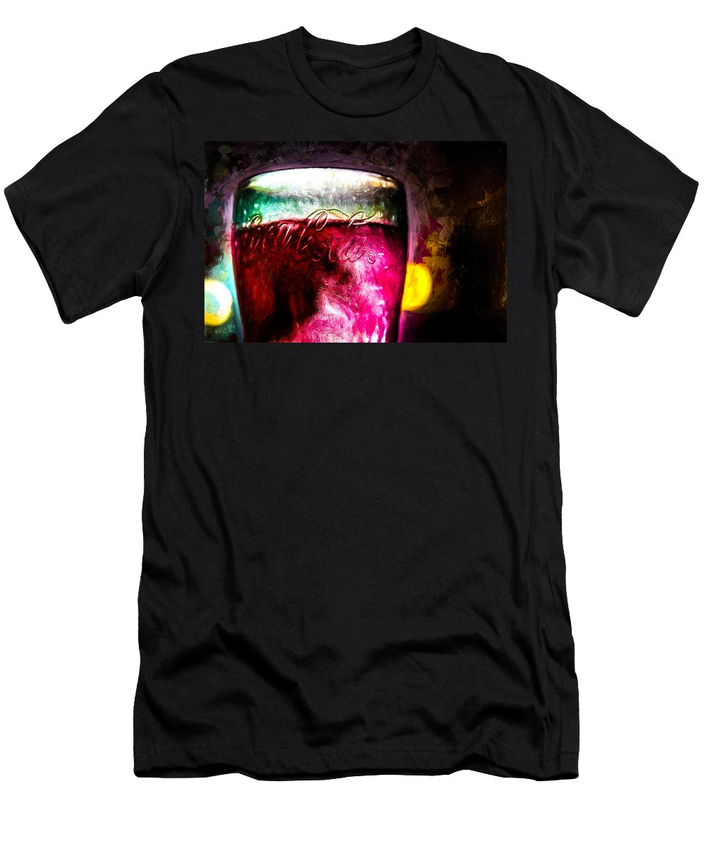 Coke T-Shirt featuring the painting Vintage Coca Cola Glass With Ice by Bob Orsillo