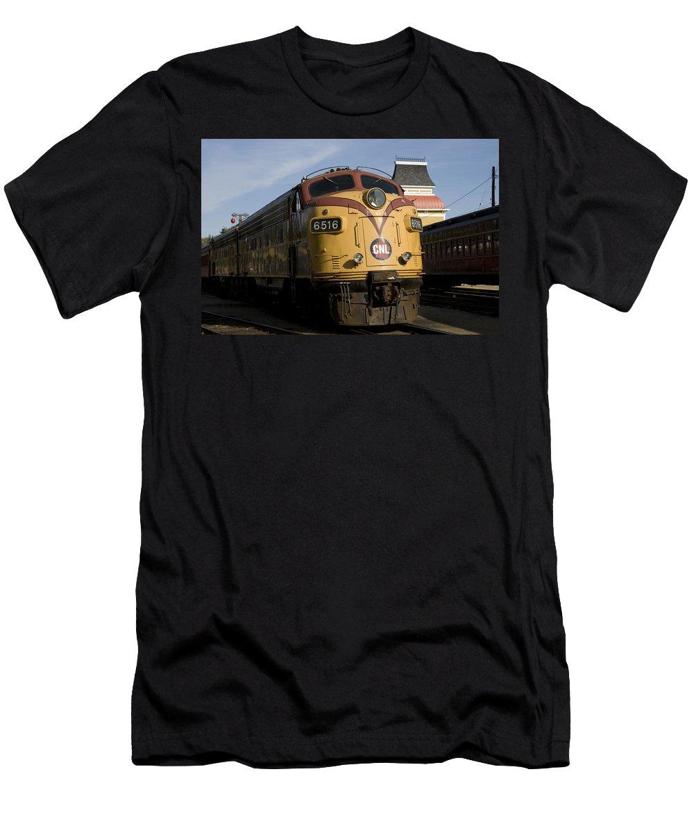 Train Photographs Photographs Men's T-Shirt (Athletic Fit) featuring the photograph Vintage Diesel Locomotive by John Clark