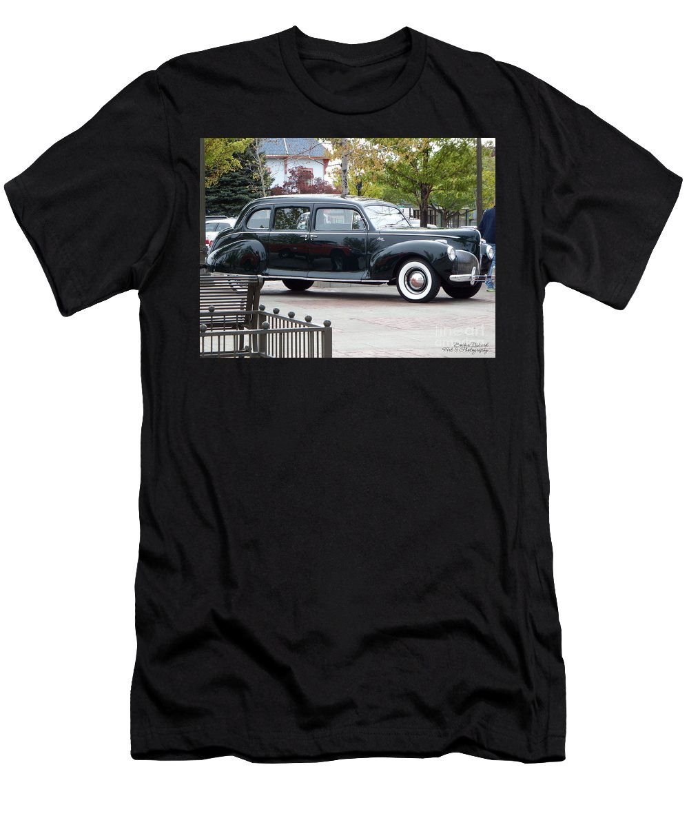 Acrylic Prints Men's T-Shirt (Athletic Fit) featuring the photograph Vintage Lincoln Limo 1941 by Bobbee Rickard