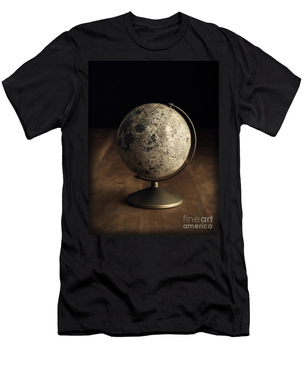 Vintage Men's T-Shirt (Athletic Fit) featuring the photograph Vintage Moon Globe by Edward Fielding