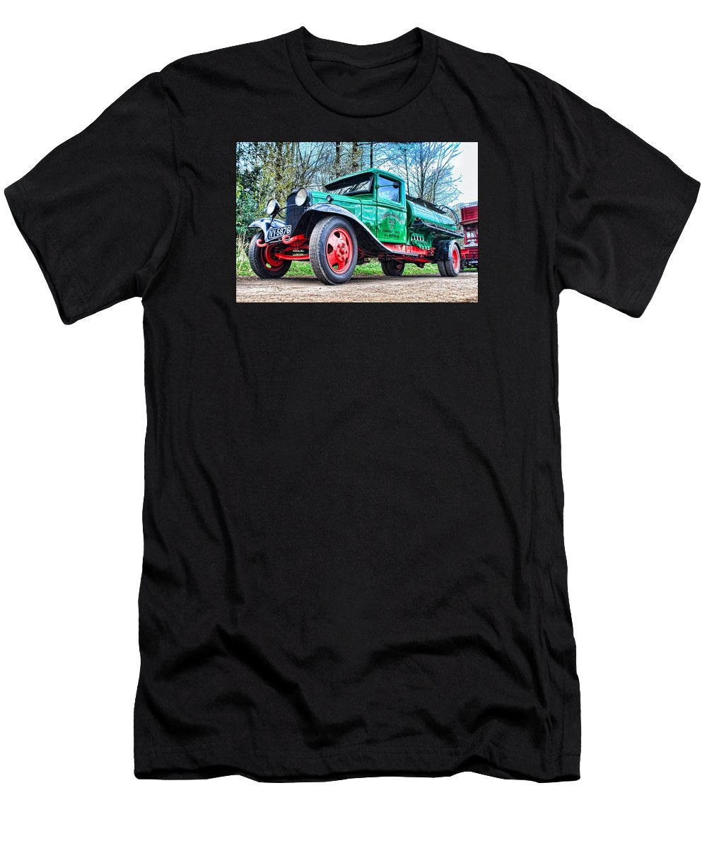 Beamish Men's T-Shirt (Athletic Fit) featuring the digital art Vintage Tanker 1 by John Lynch