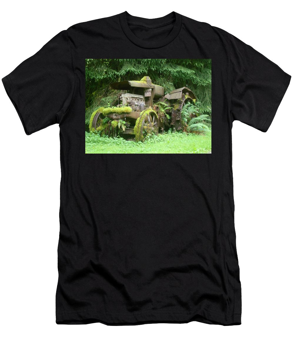 Tractor Men's T-Shirt (Athletic Fit) featuring the photograph Vintage Tractor by Ian Mcadie