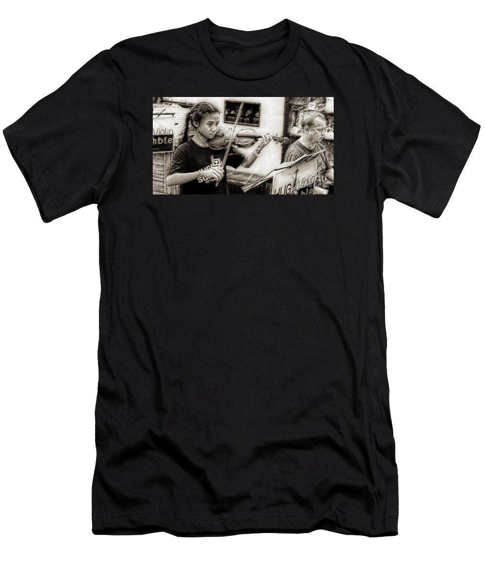 Violin Men's T-Shirt (Athletic Fit) featuring the photograph Violin Ensemble by Ian Gledhill
