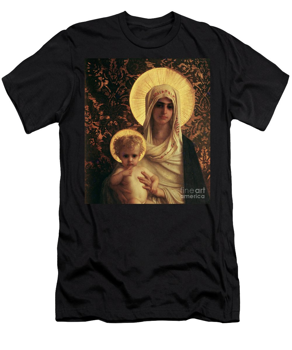 Herbert T-Shirt featuring the painting Virgin And Child by Antoine Auguste Ernest Herbert
