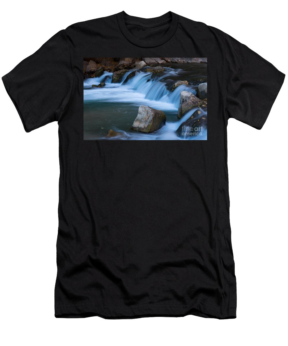 Afternoon Men's T-Shirt (Athletic Fit) featuring the photograph Virgin River Rapids by Fred Stearns