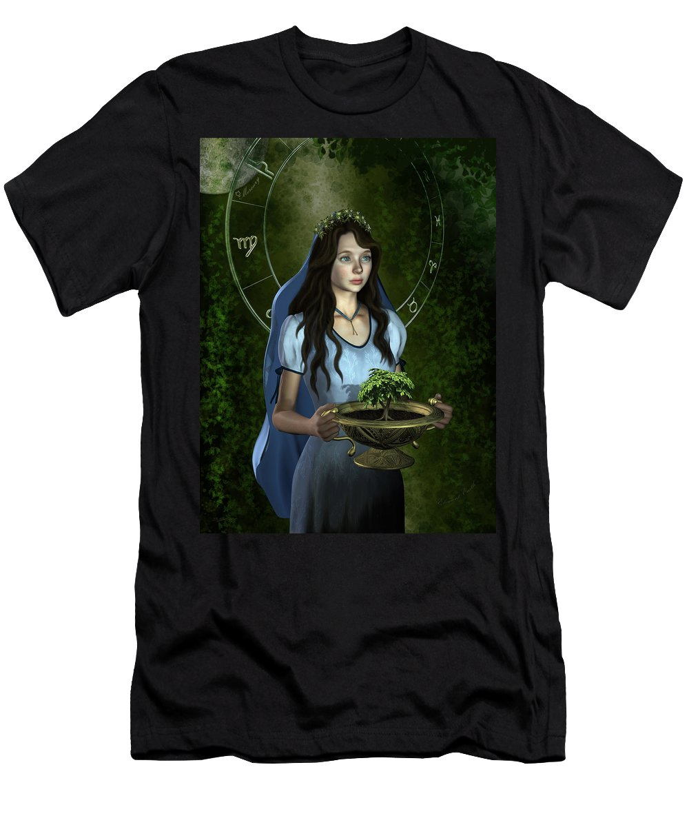Stars Men's T-Shirt (Athletic Fit) featuring the mixed media Virgo by Britta Glodde