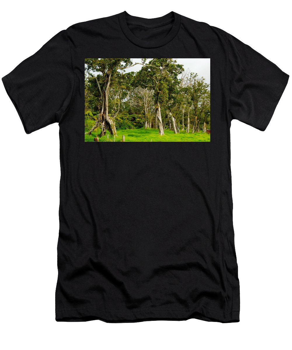 Hawaii Men's T-Shirt (Athletic Fit) featuring the photograph Volcano Ranch by Lehua Pekelo-Stearns
