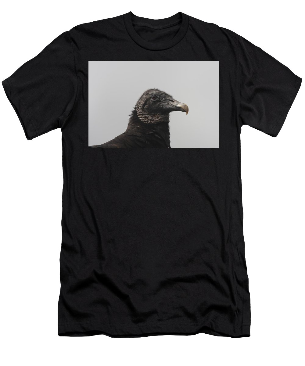 Vulture Men's T-Shirt (Athletic Fit) featuring the photograph Wachtful Vulture by Christiane Schulze Art And Photography