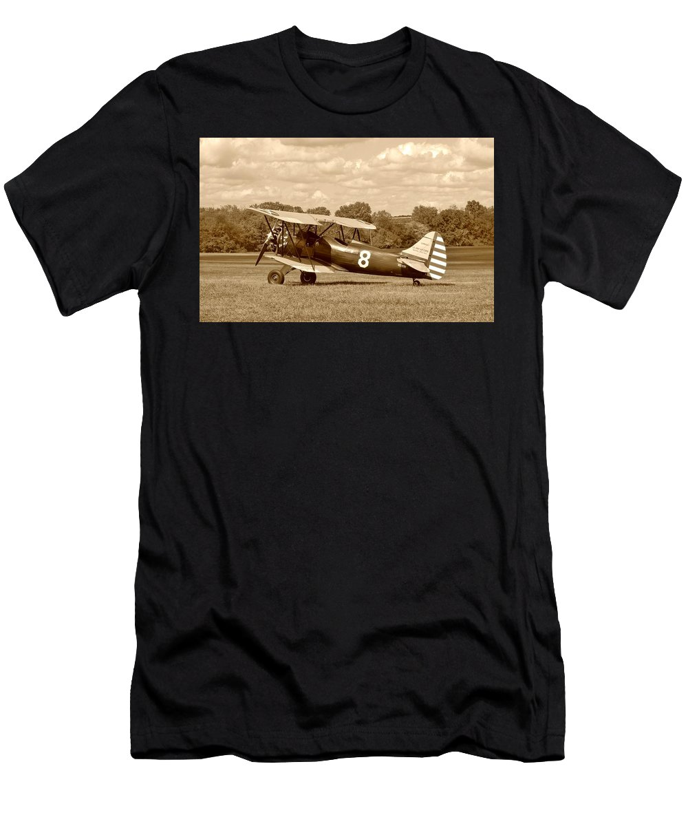 Waco Men's T-Shirt (Athletic Fit) featuring the photograph Waco Upf-7 by Jean Goodwin Brooks