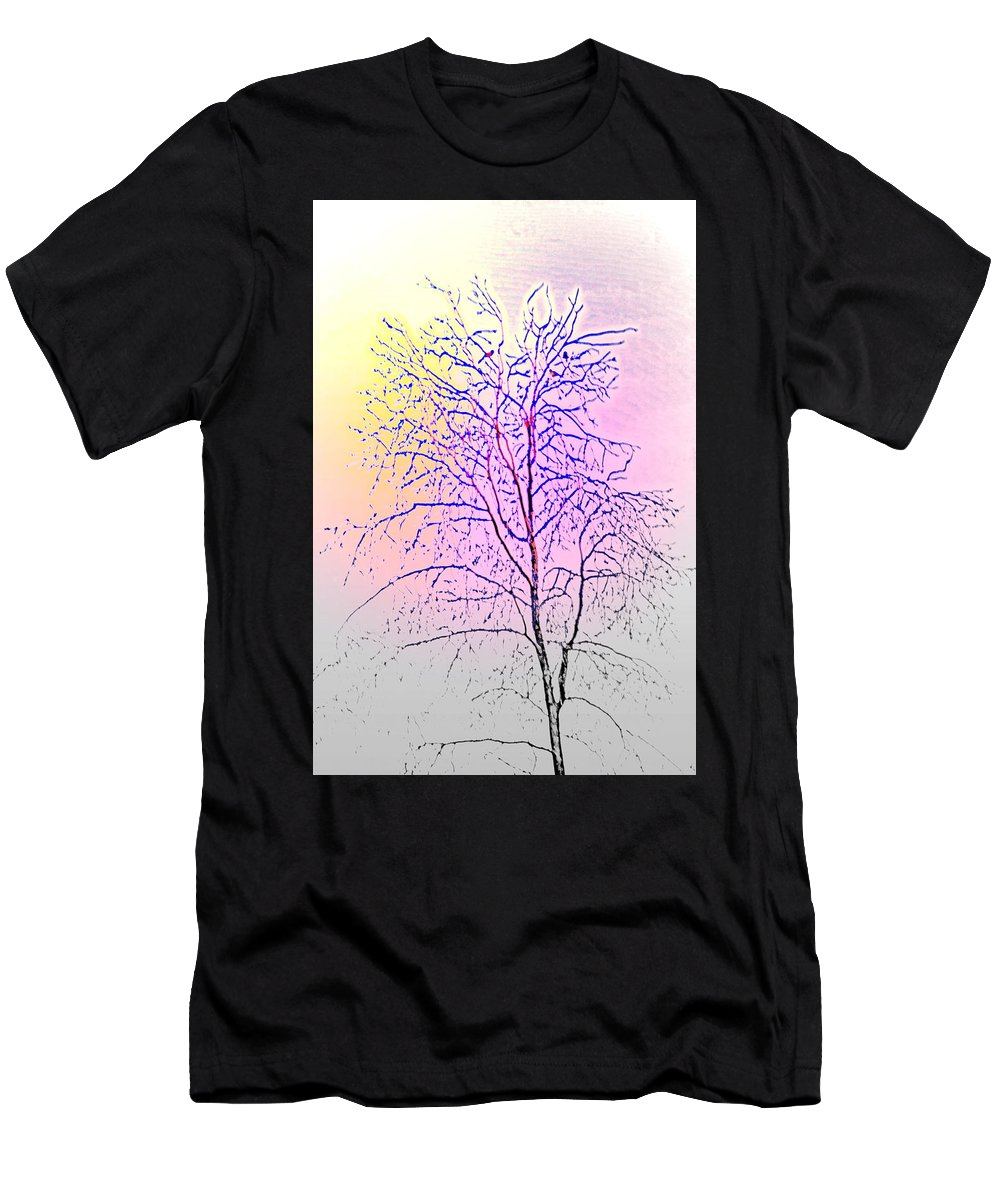 Tree Men's T-Shirt (Athletic Fit) featuring the photograph Wait For Next Summer And A New Chance To Live by Hilde Widerberg