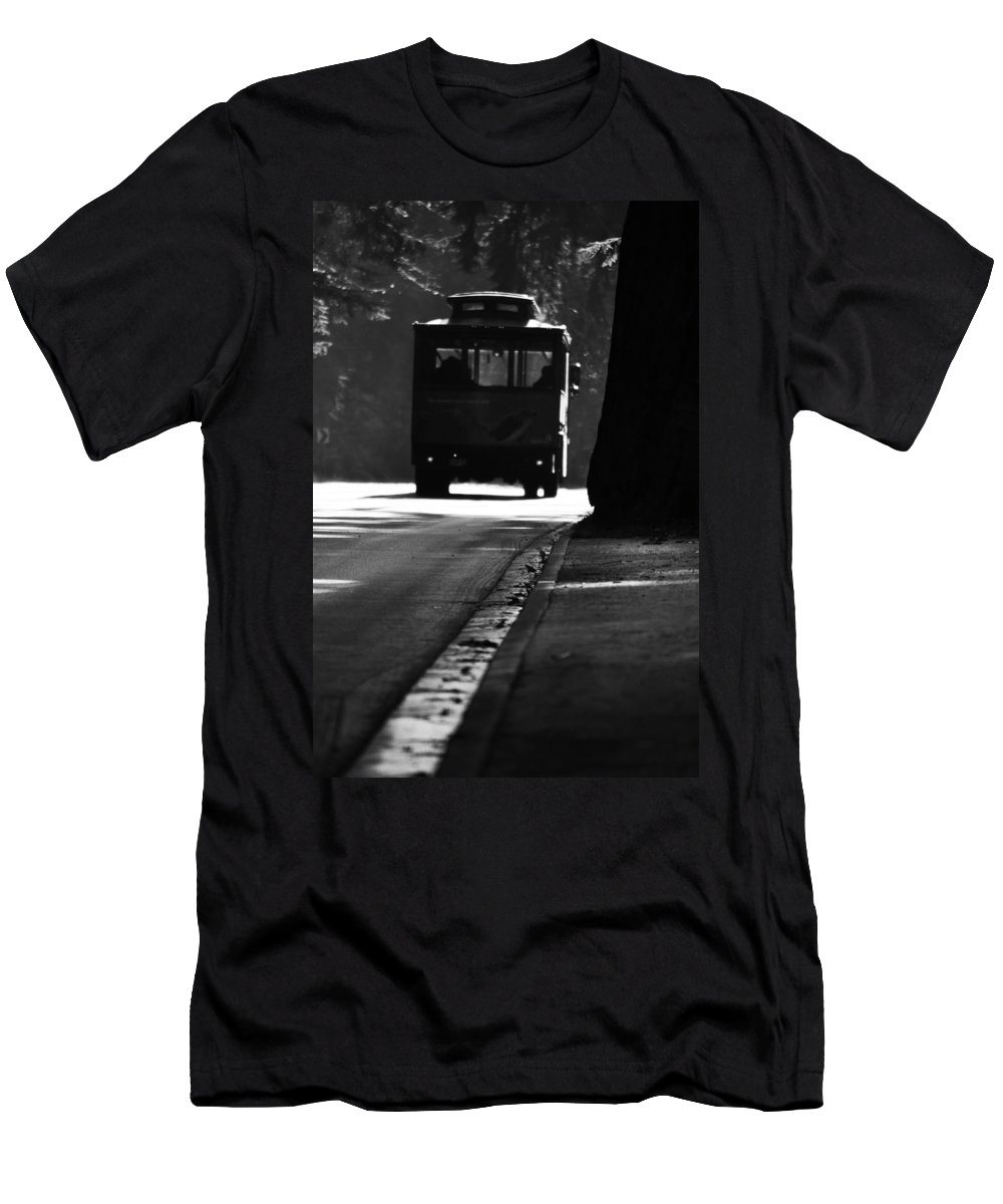Street Photographer Men's T-Shirt (Athletic Fit) featuring the photograph Waiting For Charlie by The Artist Project