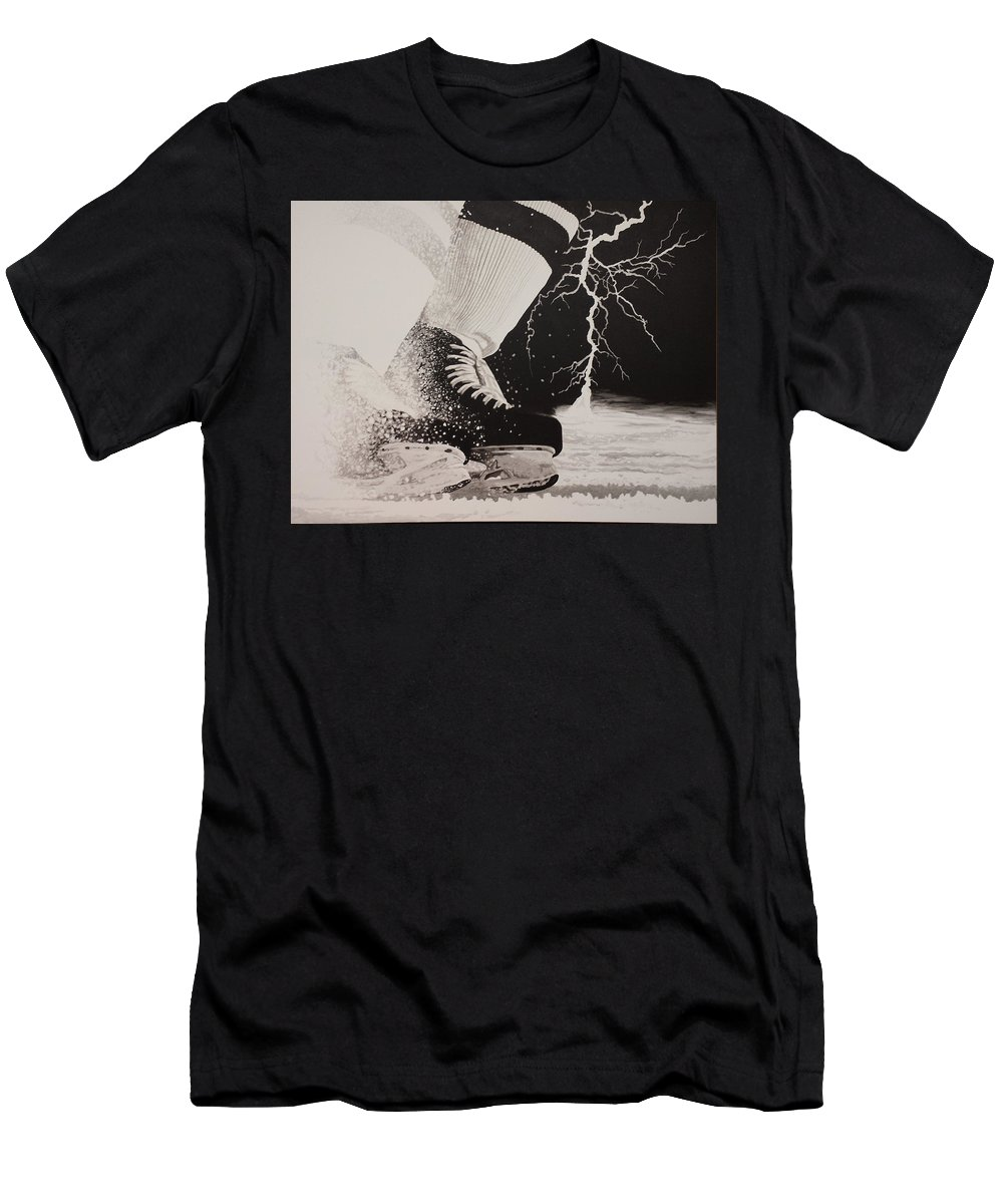 Painting T-Shirt featuring the painting Waiting on the thunder by Scott Robinson