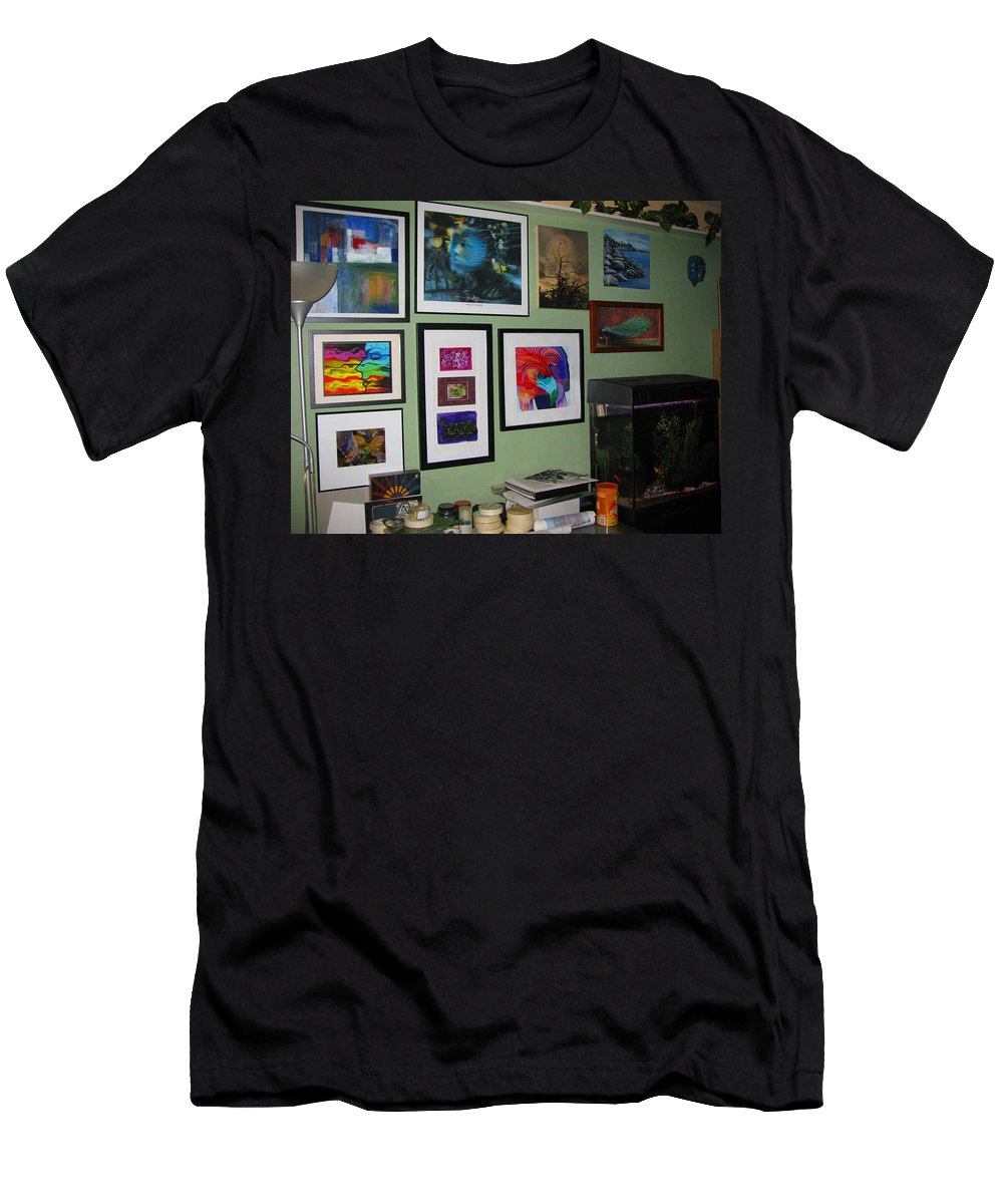 None Men's T-Shirt (Athletic Fit) featuring the photograph Wall Of Framed by Peter Piatt