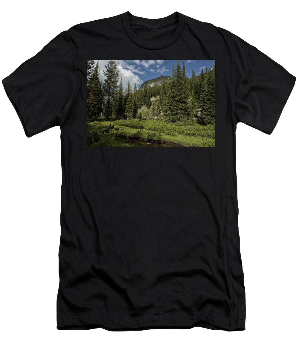 Wallowa Men's T-Shirt (Athletic Fit) featuring the photograph Wallowas - No. 1 by Belinda Greb