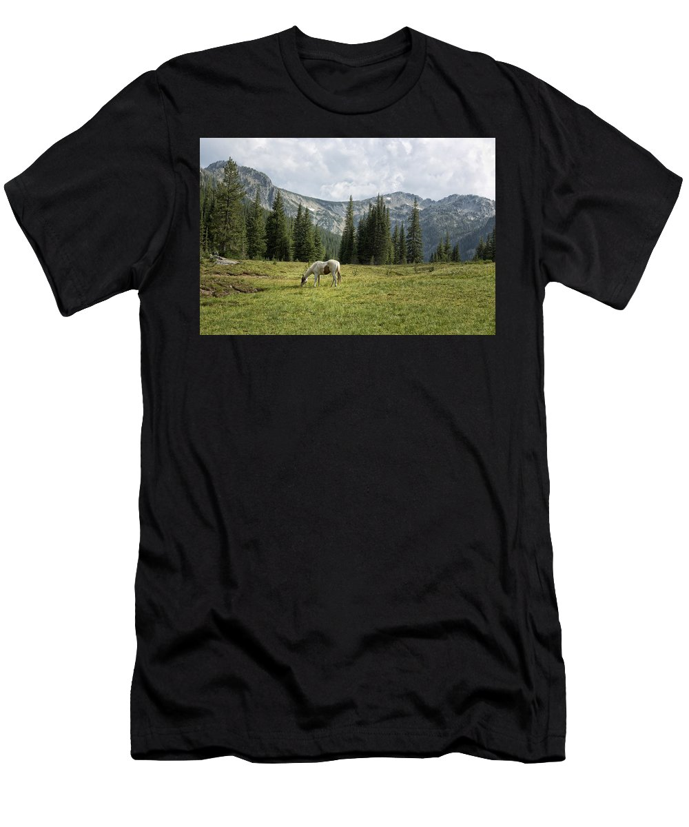Wallowa Men's T-Shirt (Athletic Fit) featuring the photograph Wallowas - No. 2 by Belinda Greb