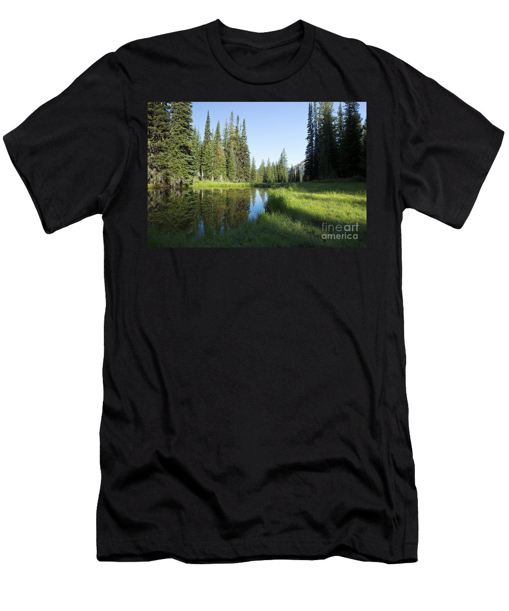 Wallowa Men's T-Shirt (Athletic Fit) featuring the photograph Wallowas - No. 3 by Belinda Greb