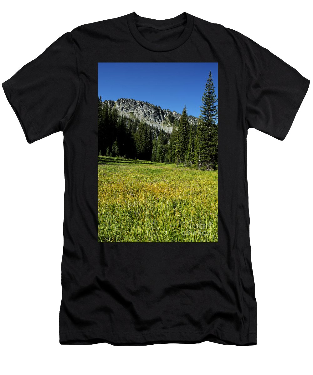 Wallowa Men's T-Shirt (Athletic Fit) featuring the photograph Wallowas - No. 4 by Belinda Greb