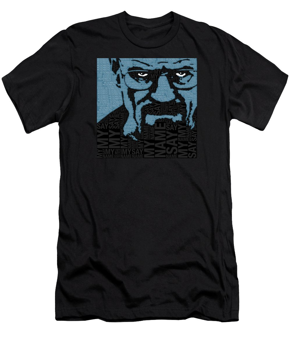 Breaking Bad Men's T-Shirt (Athletic Fit) featuring the painting Walter White Heisenberg Breaking Bad by Tony Rubino