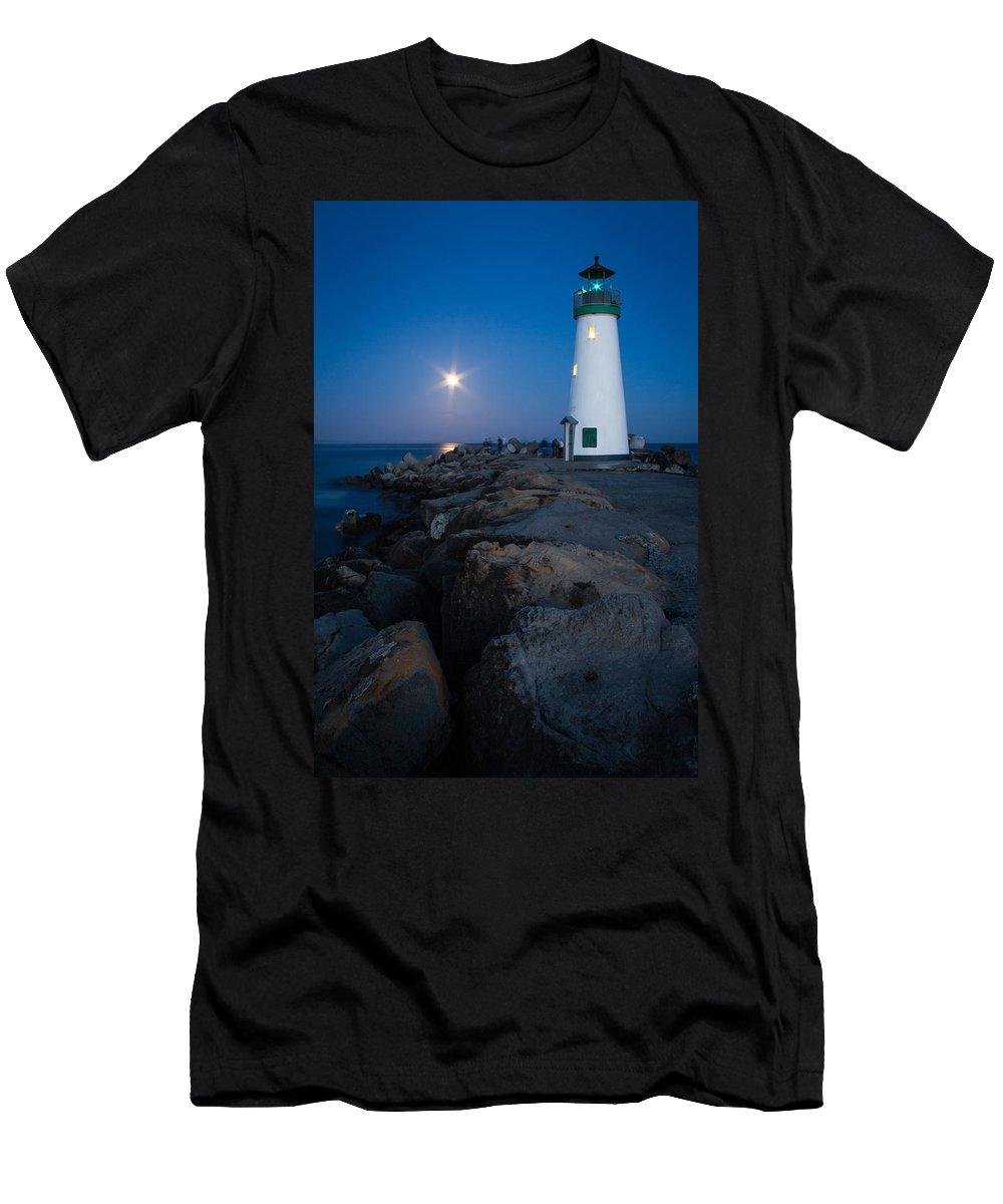 Santa Cruz Men's T-Shirt (Athletic Fit) featuring the photograph Walton Moon Burst by Dayne Reast