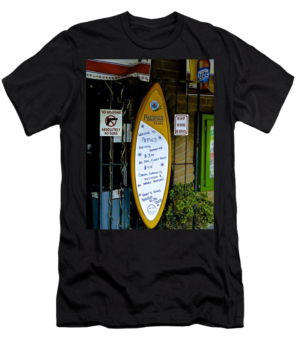 Wild West Men's T-Shirt (Athletic Fit) featuring the photograph Wanna Drink? by Barbara Zahno