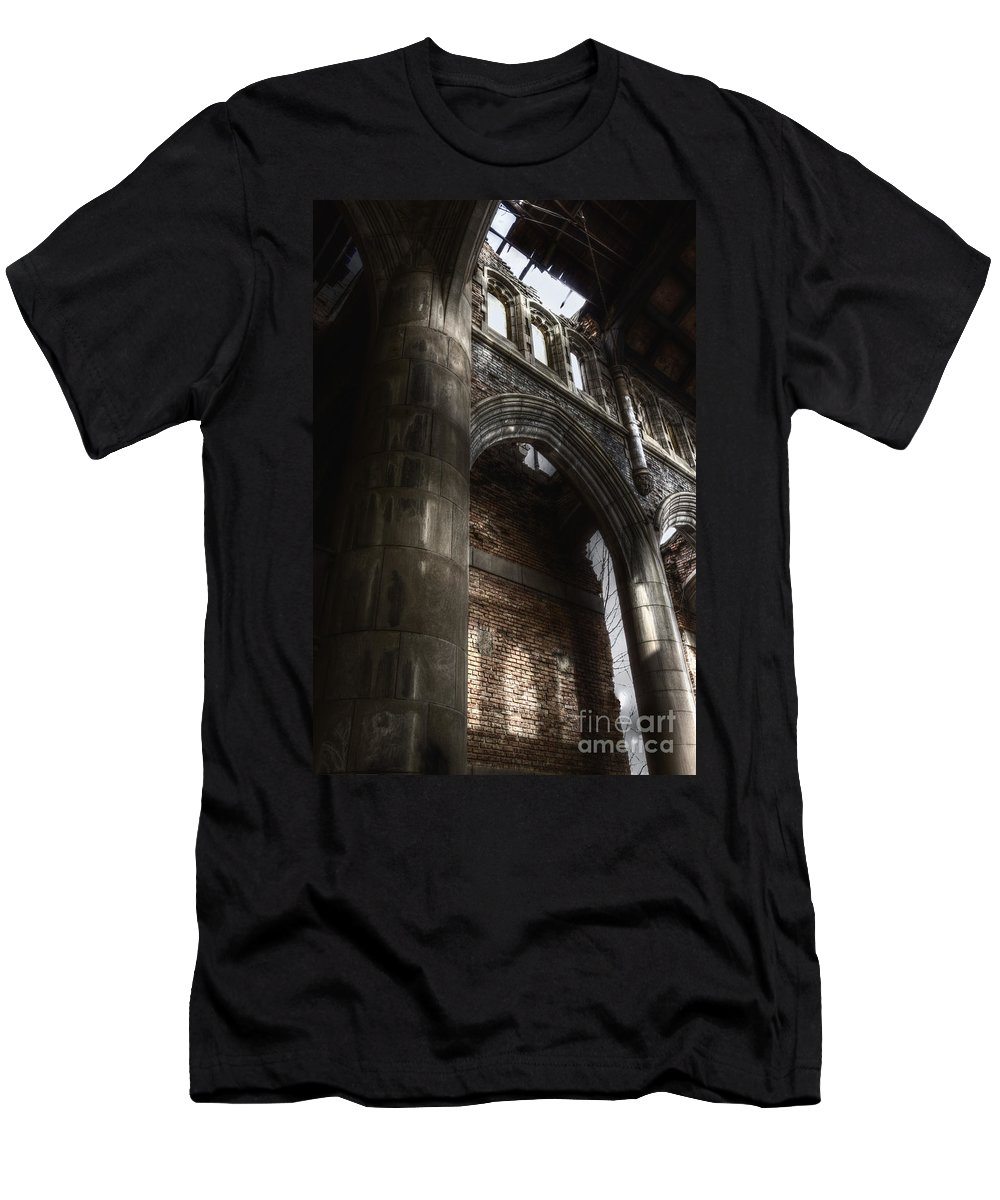 Church Men's T-Shirt (Athletic Fit) featuring the photograph War Of Religion by Margie Hurwich