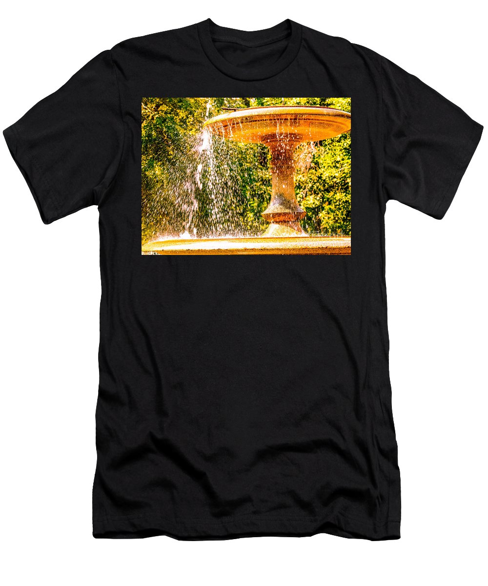 Fountian Men's T-Shirt (Athletic Fit) featuring the photograph Wascana-55 by David Fabian