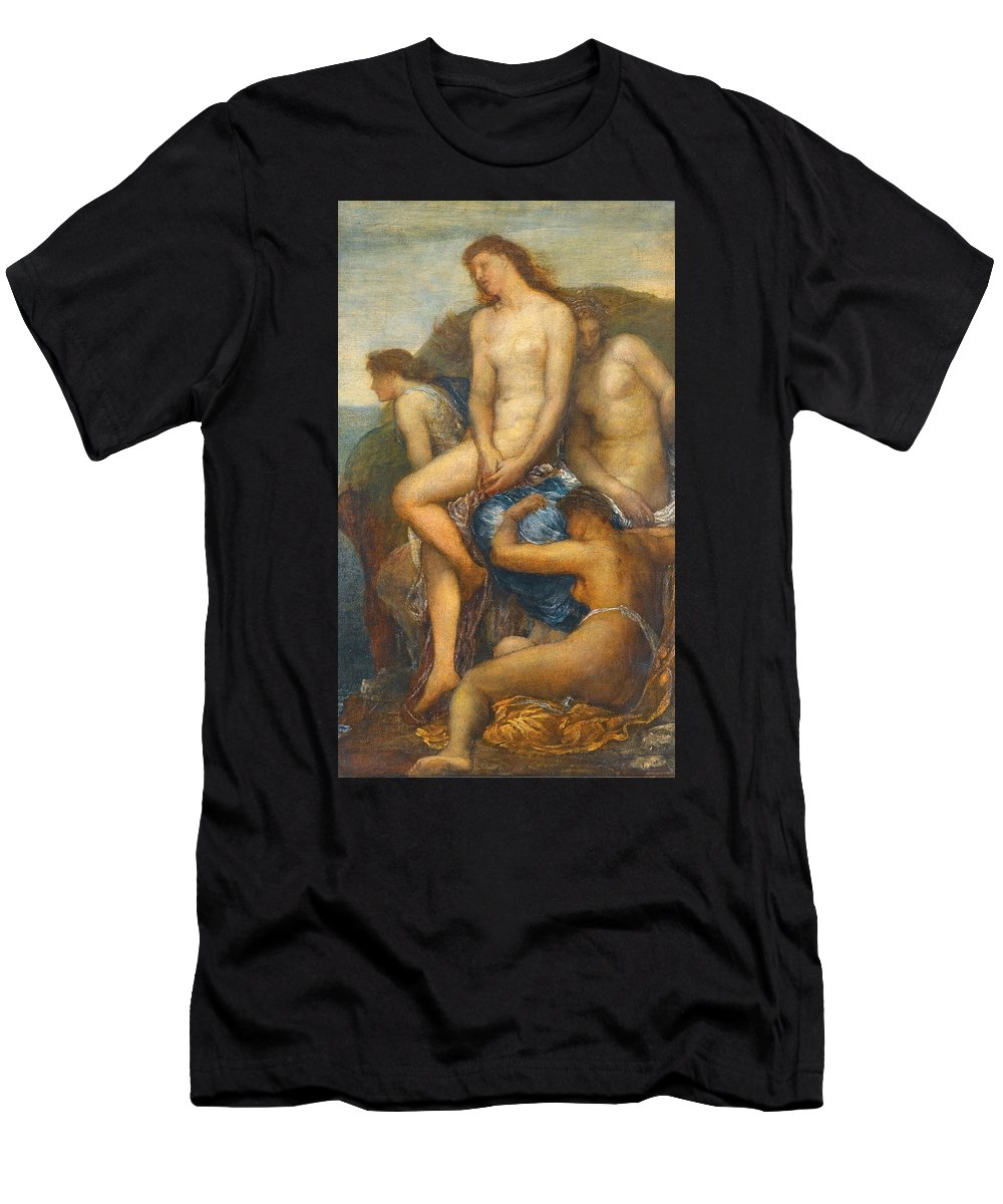 George Frederic Watts Men's T-Shirt (Athletic Fit) featuring the painting Watching For The Return Of Theseus by George Frederic Watts