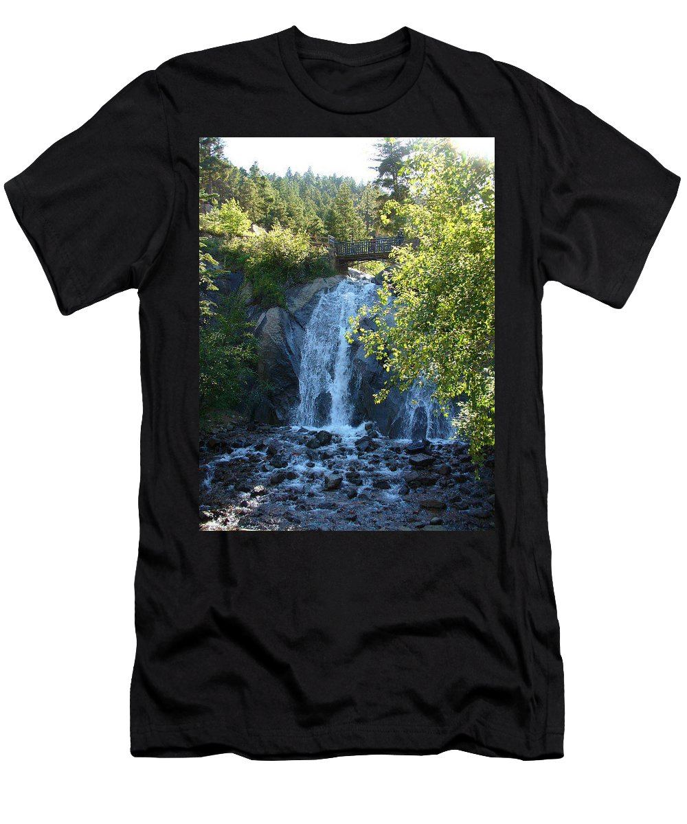 Lyle Men's T-Shirt (Athletic Fit) featuring the painting Water Fall by Lord Frederick Lyle Morris