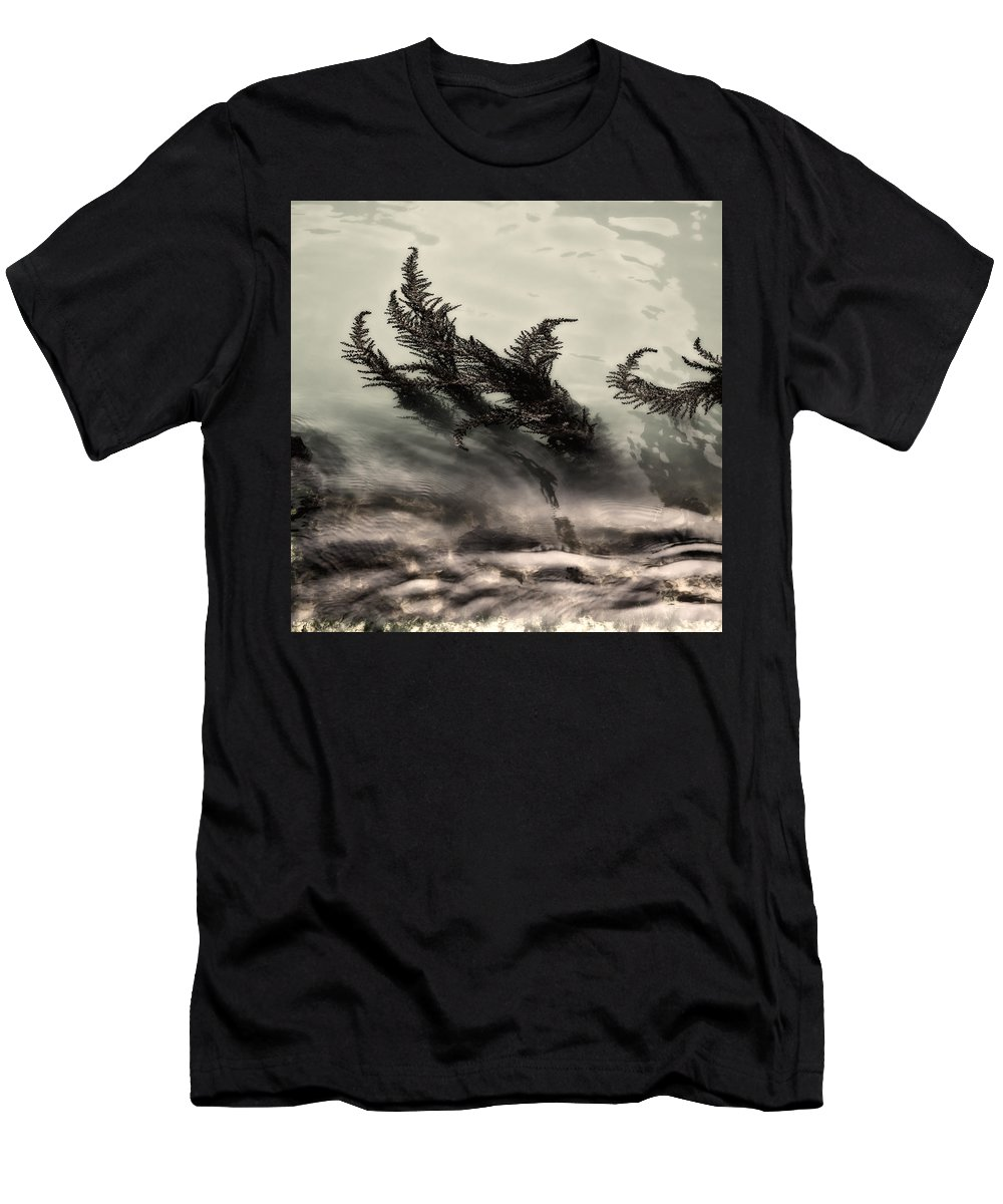 Water Fronds Men's T-Shirt (Athletic Fit) featuring the photograph Water Fronds by Dave Bowman