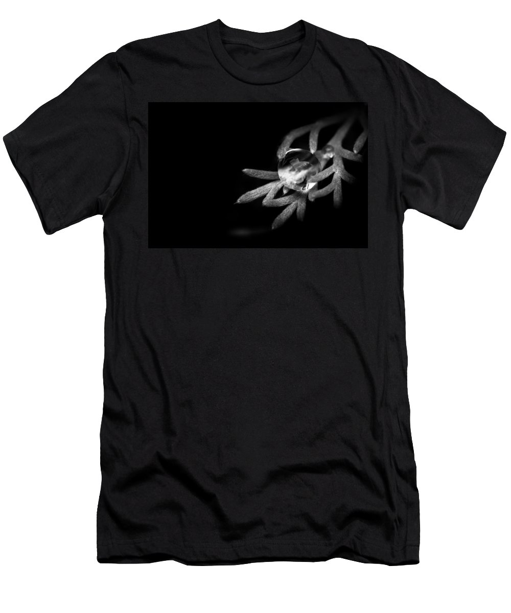 Black And White Men's T-Shirt (Athletic Fit) featuring the photograph Water Is Life by Shane Holsclaw