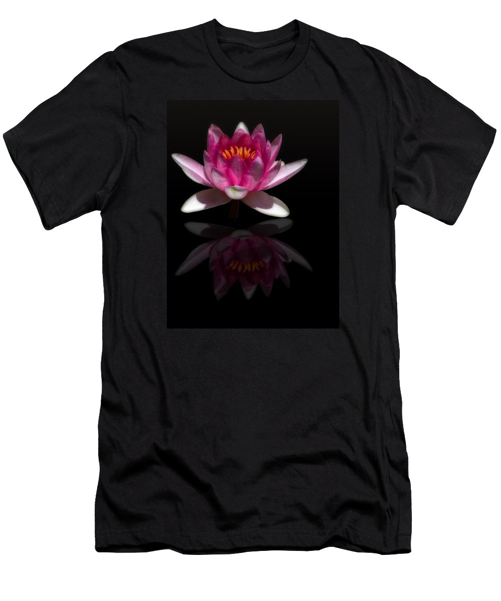 Photo Art Men's T-Shirt (Athletic Fit) featuring the photograph Water Lily Reflection by Shelly Gunderson