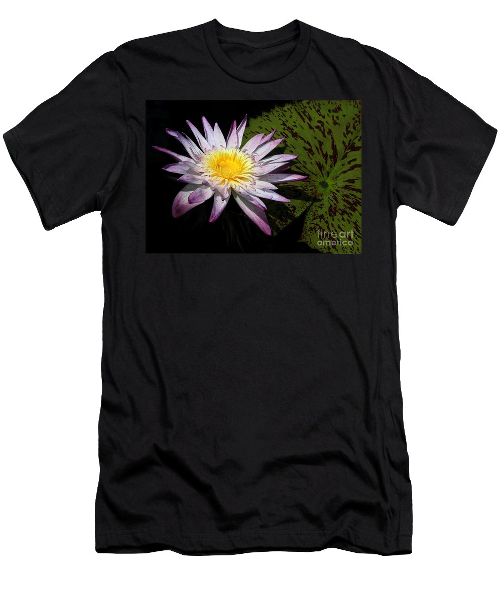 Landscape Men's T-Shirt (Athletic Fit) featuring the photograph Water Lily With Lots Of Petals by Sabrina L Ryan