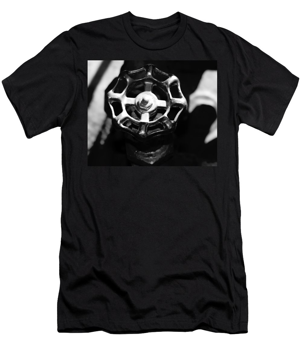 Men's T-Shirt (Athletic Fit) featuring the photograph Water Spigot by Cathy Anderson