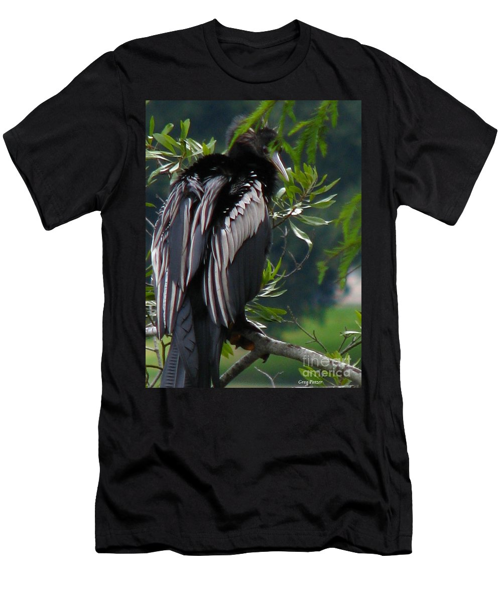 Patzer Men's T-Shirt (Athletic Fit) featuring the photograph Water Turkey by Greg Patzer